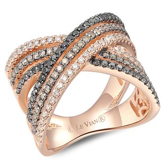 Le Vian 14ct Strawberry Gold Layer Cake Diamond Ring - Product number 6019501