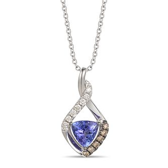 Le Vian 14ct Vanilla Gold Tanzanite & Diamond Pendant - Product number 6019978