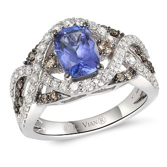 Le Vian 14ct Vanilla Gold Blueberry Tanzanite & Diamond Ring - Product number 6020097
