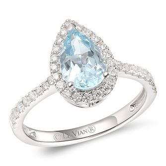 Le Vian 14ct Vanilla Gold Sea Blue Aquamarine & Diamond Ring - Product number 6020968