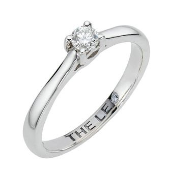 Leo Diamond Platinum 0.15ct I-SI2 Diamond Solitaire Ring - Product number 6021255