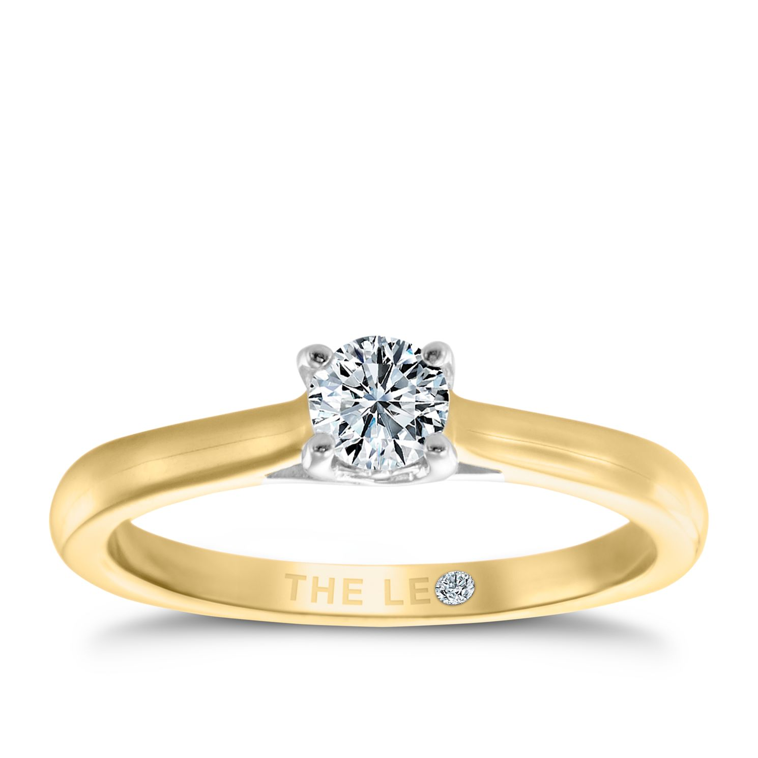 Leo Diamond 18ct Yellow & White Gold 1/4ct I-Si2 Ring - Product number 6021395
