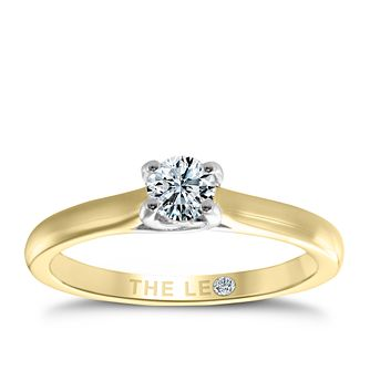 Leo Diamond 18ct yellow & white gold 1/3ct I-SI2 ring - Product number 6021522