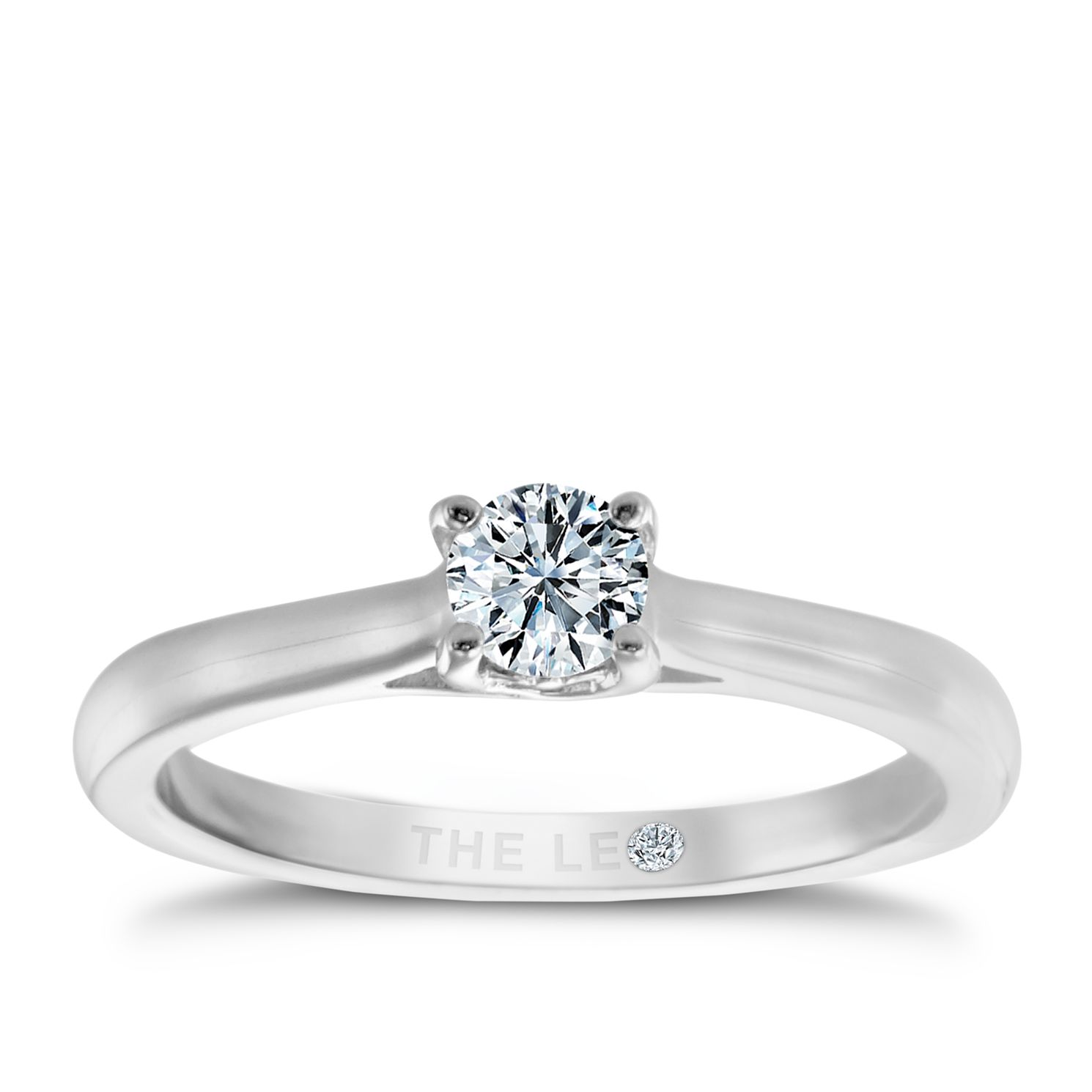 Leo Diamond Platinum 1/4ct I-Si2 Solitaire Ring - Product number 6021662