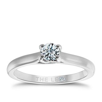 Leo Diamond Platinum 1/3ct I-Si2 Solitaire Ring - Product number 6021794