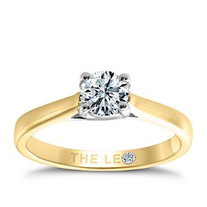 Leo Diamond 18ct yellow & white gold 1/2ct I-SI2 ring - Product number 6021913