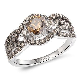Le Vian 14ct Vanilla Gold Chocolate & Nude Diamond Ring - Product number 6022812