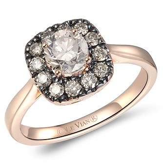 Le Vian 14ct Strawberry Gold Chocolate & Nude Diamond Ring - Product number 6024351