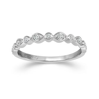 Emmy London Platinum 1/10ct Diamond Eternity Ring - Product number 6026354