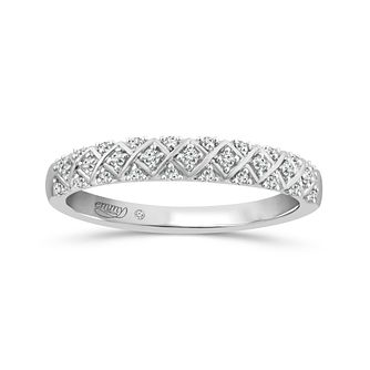 Emmy London Platinum 0.12ct Diamond Eternity Ring - Product number 6026516
