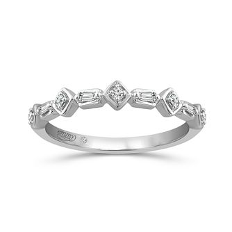 Emmy London Platinum Fancy 0.07Ct Diamond Band - Product number 6026648
