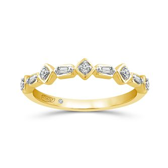 Emmy London 18Ct Yellow Gold Fancy 0.07Ct Diamond Band - Product number 6026923