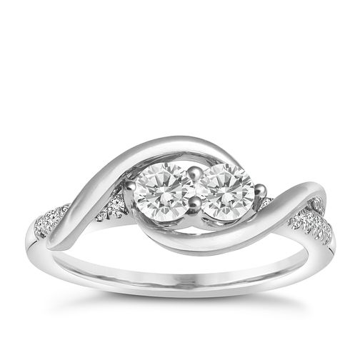 Ever Us 14ct white gold 0.50ct 2 stone diamond ring - Product number 6035590
