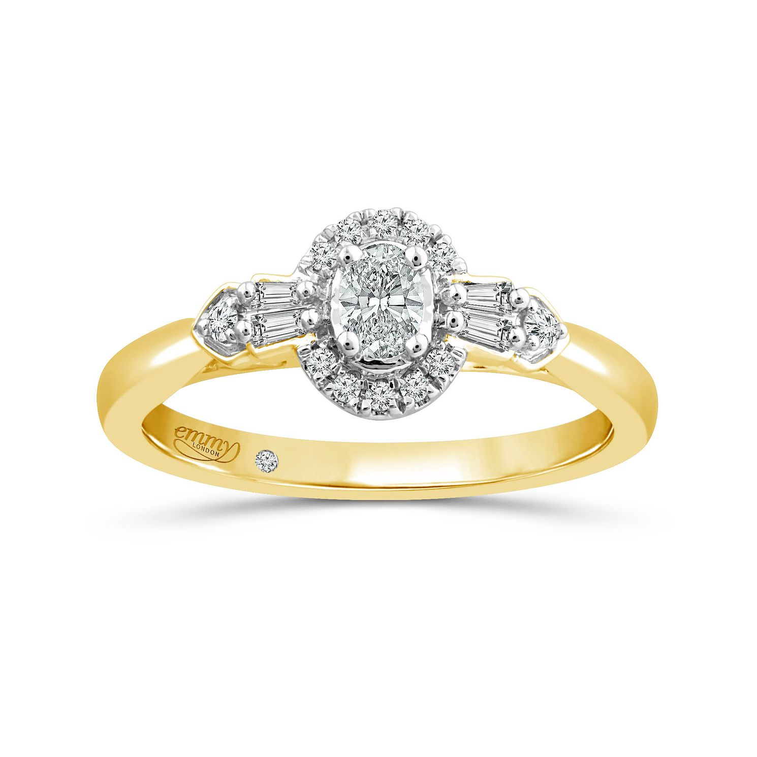 Emmy London 18ct Yellow Gold 1/4ct Diamond Ring - Product number 6036694