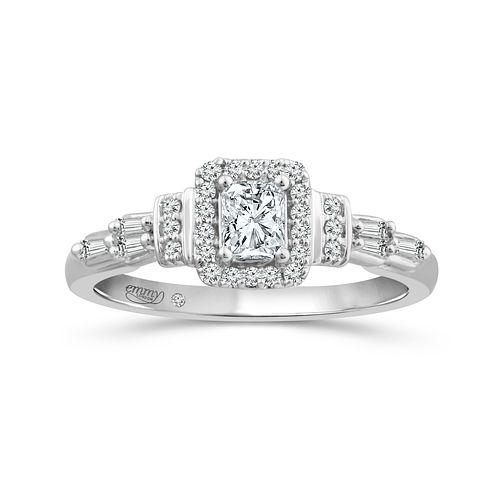 Emmy London Platinum 1/2Ct Square Diamond Ring - Product number 6036821