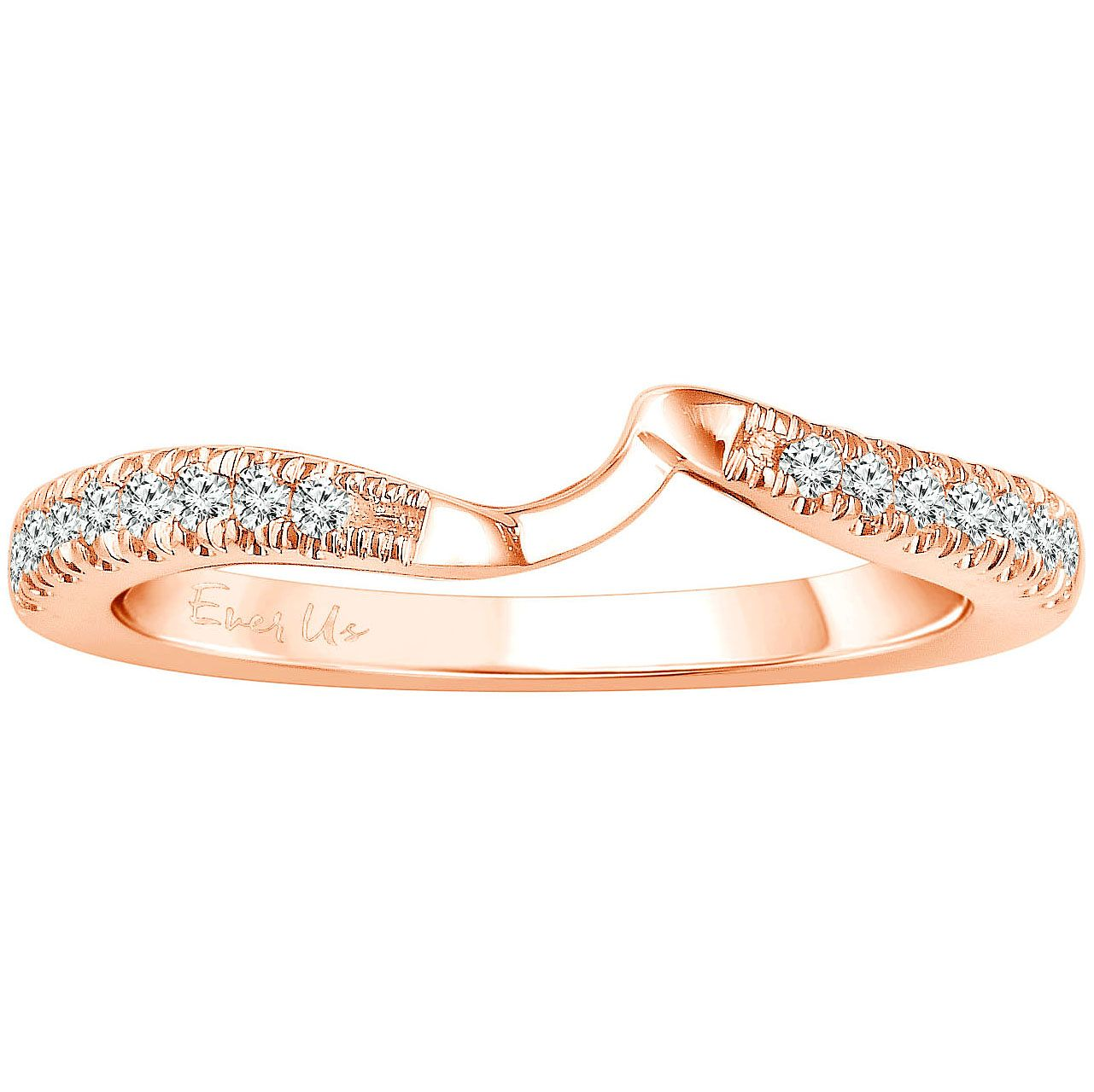 Ever Us 14ct Rose Gold 1/5ct Diamond Shaped Band - Product number 6039804