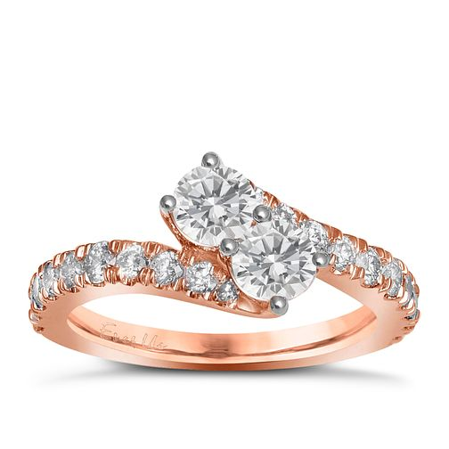 Ever Us 14ct rose gold 1.50ct two stone diamond twist ring - Product number 6040500