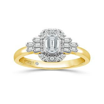 Emmy London 18ct Yellow Gold 1/2ct Diamond Fancy Ring - Product number 6040691