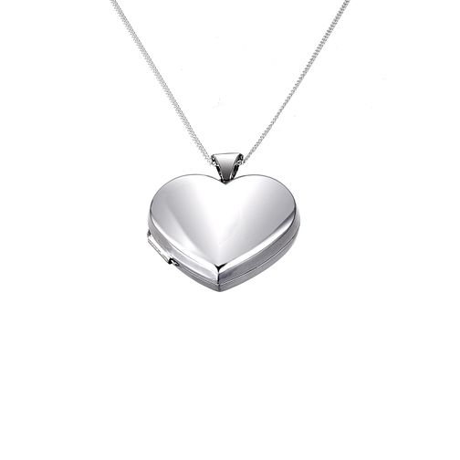 Sterling silver heart locket 21mm - Product number 6044239