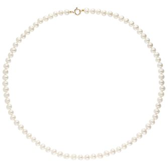"9ct Gold 18"" Cultured Freshwater Pearl Necklace - Product number 6046398"