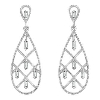 Emmy London Sterling Silver 0.11ct Diamond Drop Earrings - Product number 6047793