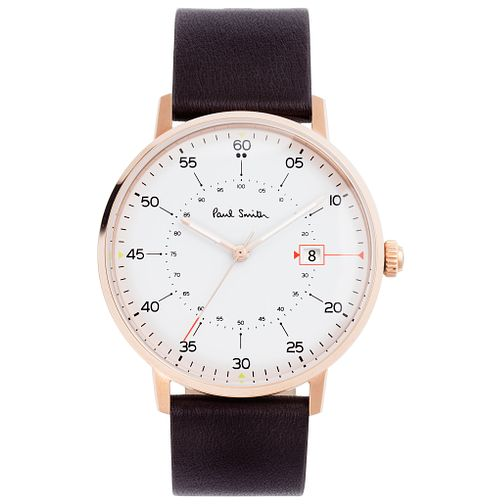 Paul Smith Gauge 41mm Men's Rose Gold Tone Strap Watch - Product number 6049125