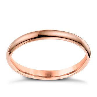 9ct Rose Gold 2mm Extra Heavy Court Ring - Product number 6051596
