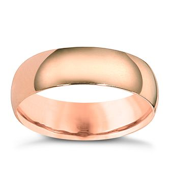 9ct Rose Gold 6mm Extra Heavy Court Ring - Product number 6063373