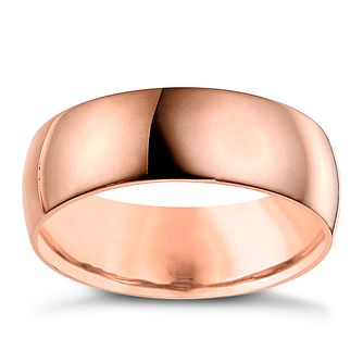 9ct Rose Gold 7mm Extra Heavy Court Ring - Product number 6063837