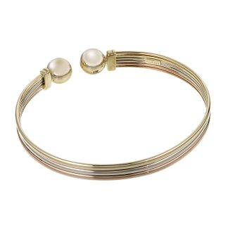 9ct Three Tone Gold Torque Bangle - Product number 6067212