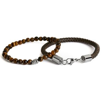 Simon Carter Men's Brown Leather Bracelet Set - Product number 6080561