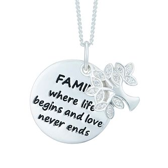 Sterling Silver Family Tree Message Pendant - Product number 6083048