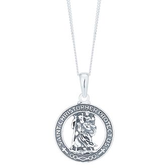f3503036d Sterling Silver St Christopher Protect Us Cut Out Pendant - Product number  6083250