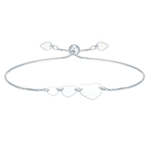 Sterling Silver Hearts Adjustable Bracelet - Product number 6083838