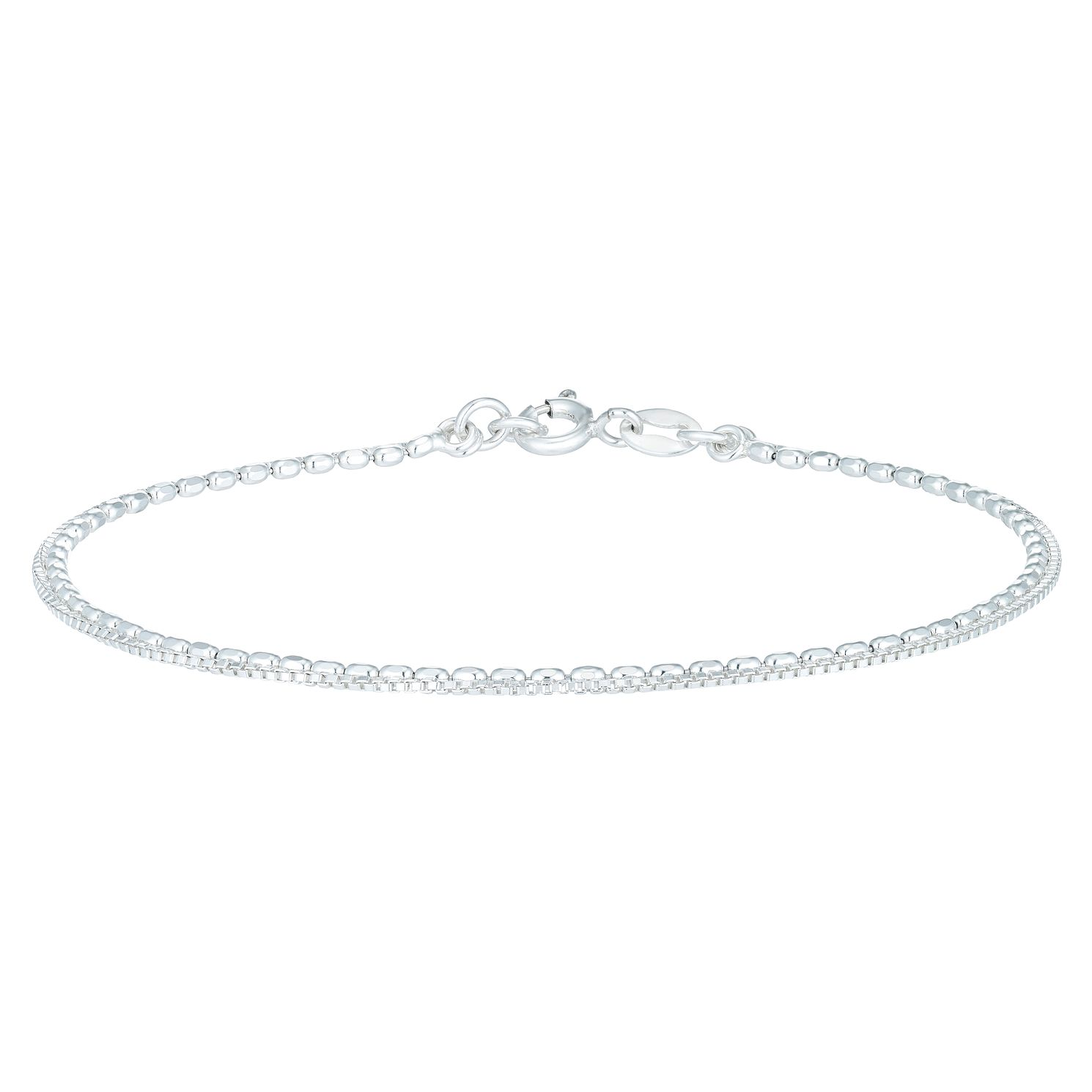 Sterling Silver Beaded Double Chain Bracelet - Product number 6083846
