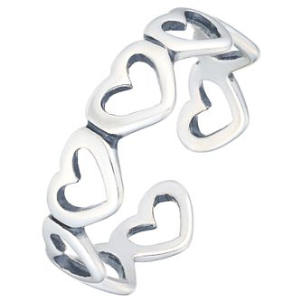 Sterling Silver Heart Toe Ring - Product number 6084974