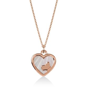 Radley 18ct Rose Gold Tone Mother-Of-Pearl Heart Pendant - Product number 6088546