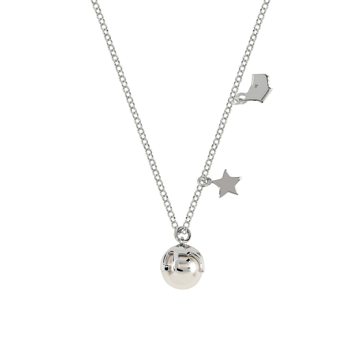 Radley Silver Tone Pearl & Star Charm Necklace - Product number 6088600