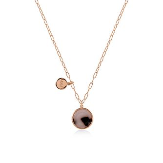Radley 18ct Rose Gold Tone Tortoise-Shell Disc Pendant - Product number 6088619