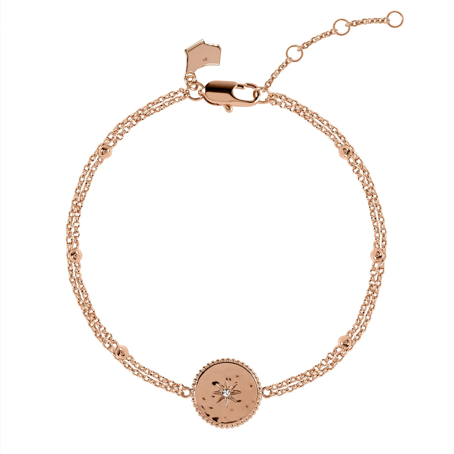 Radley Rose Gold Tone Double Star Disc Bracelet - Product number 6088627