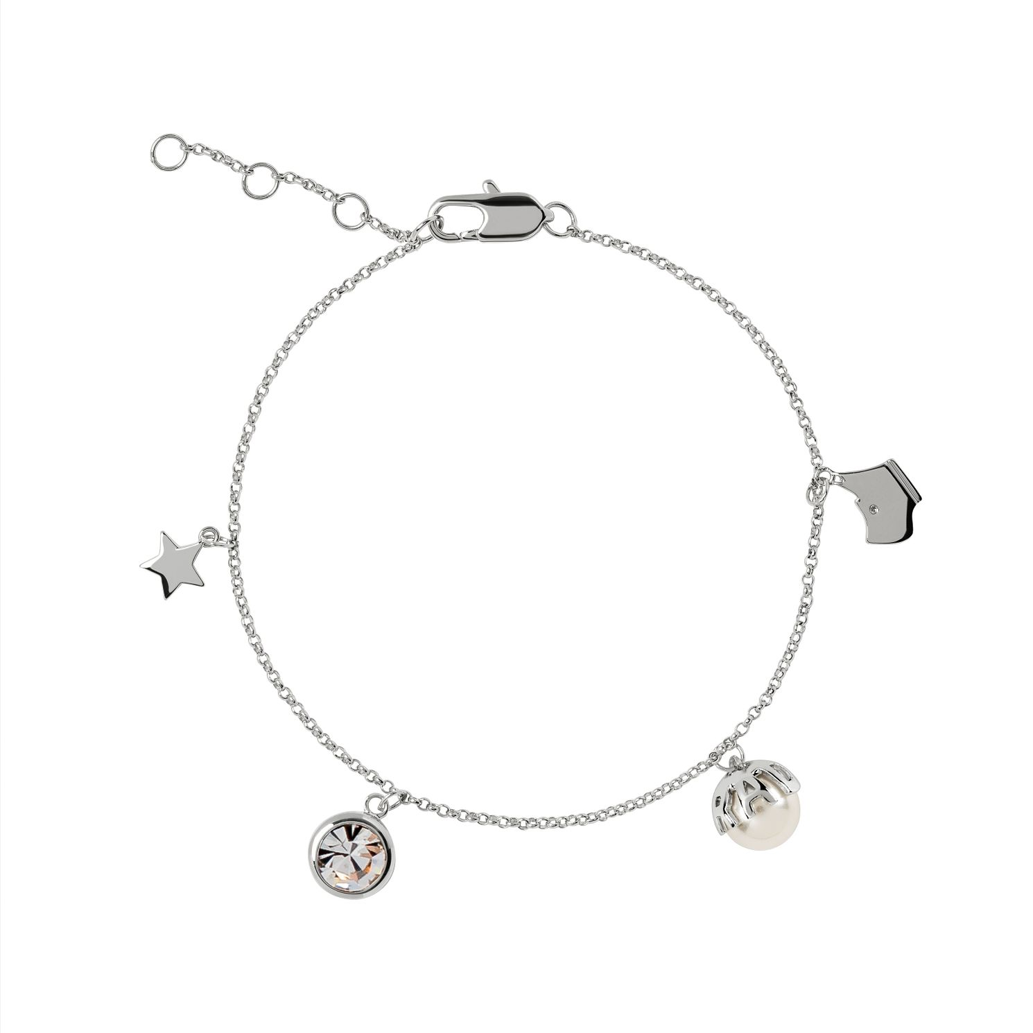 Radley Silver Tone Pearl & Star Charm Bracelet - Product number 6088651