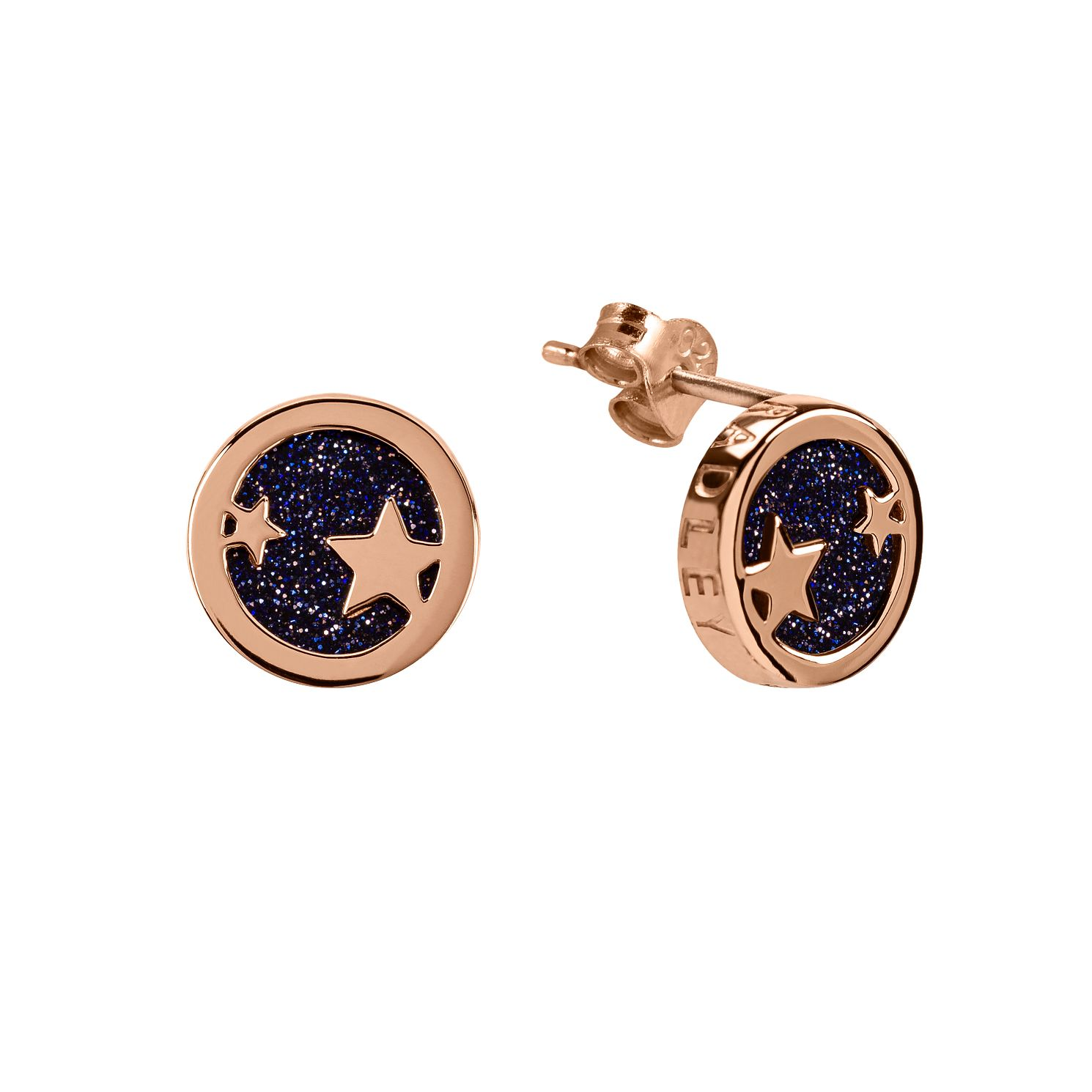 Radley Rose Gold Tone Blue Sandstone Star Stud Earrings - Product number 6088724