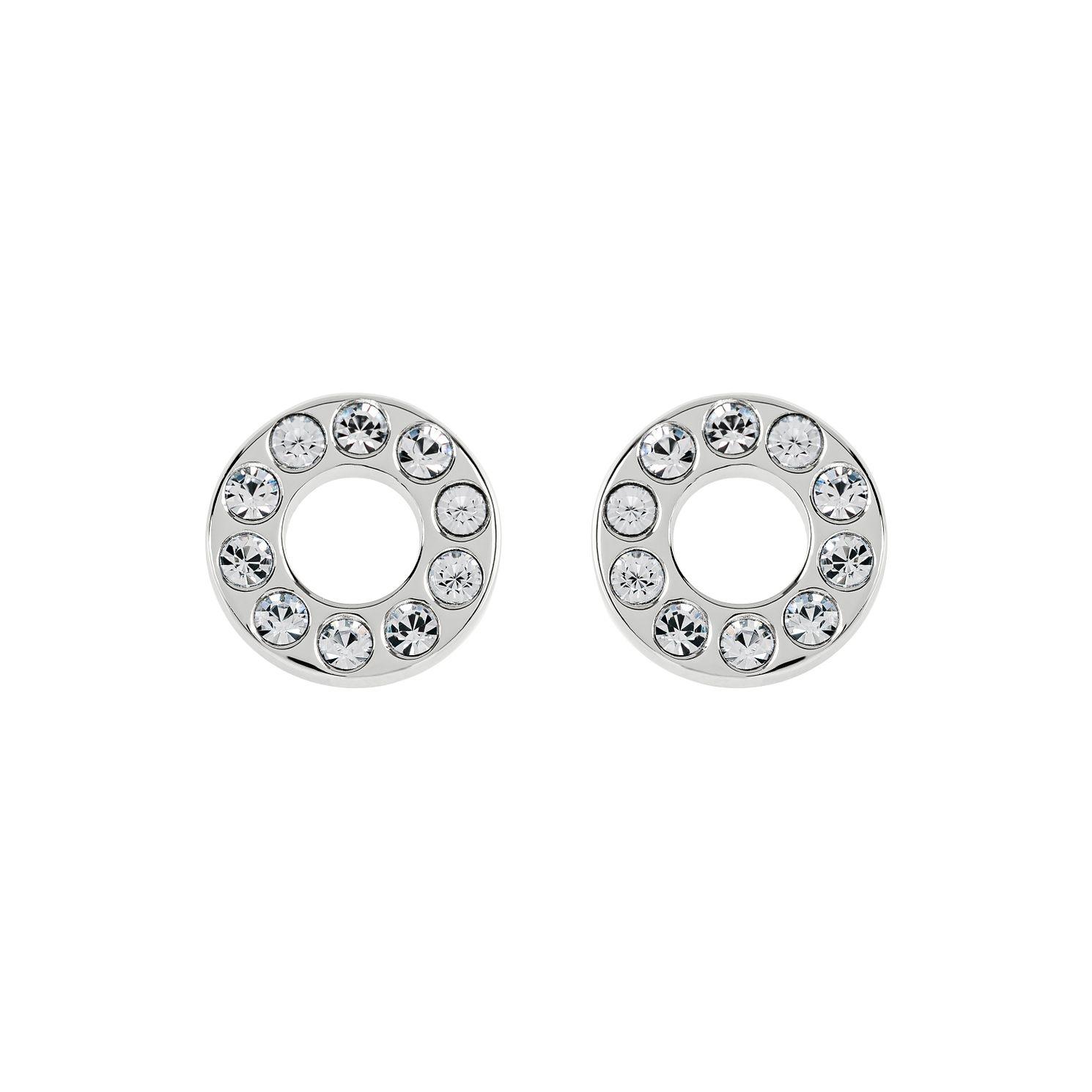 Radley Silver Open Circle Czech Crystal Stud Earrings - Product number 6088767