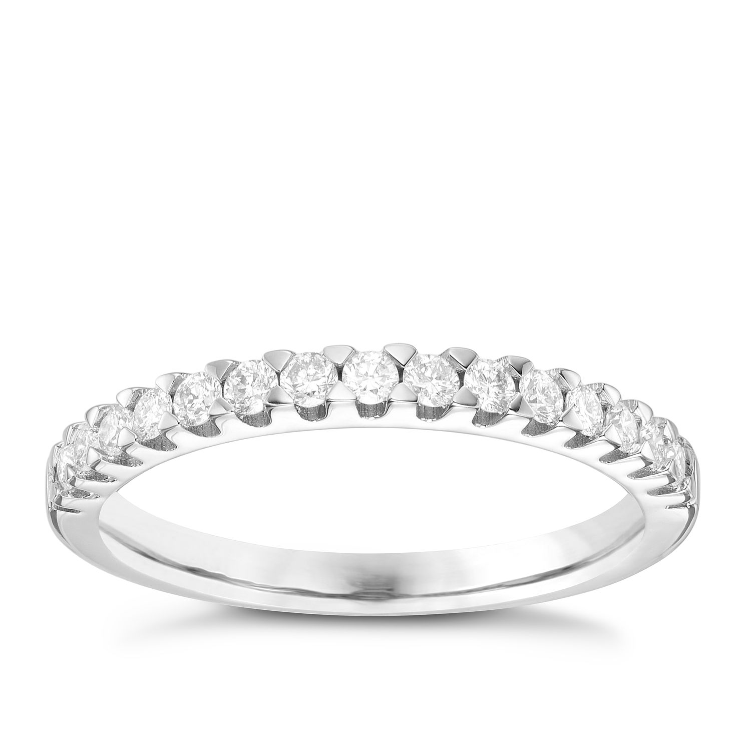 18ct White Gold 0.30 Carat Claw Set Diamond Band - Product number 6090087