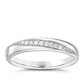 18ct White Gold Diamond Set Band - Product number 6090885
