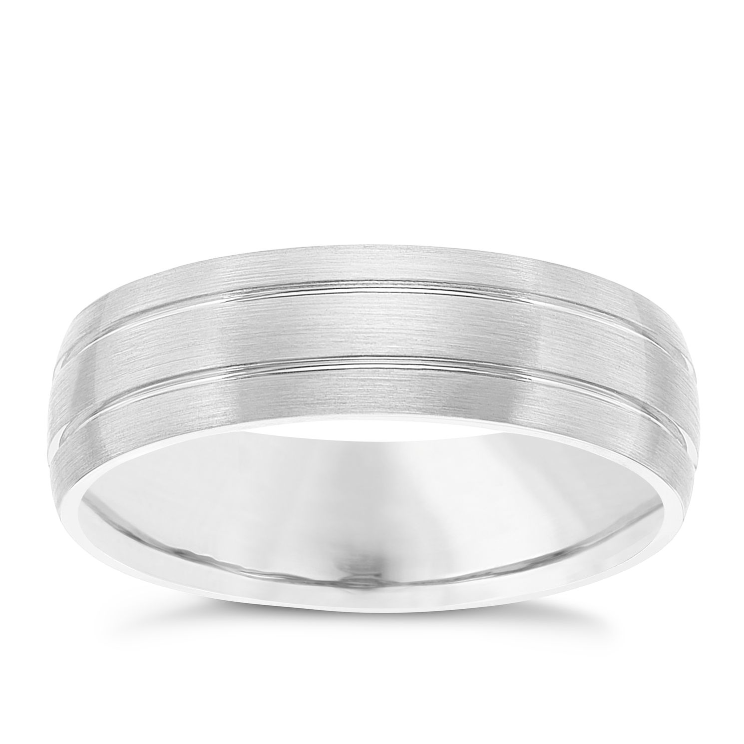 Palladium 950 Striped 6mm Band - Product number 6092497