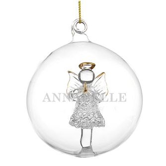 Engraveable Glass Angel Bauble - Product number 6094988