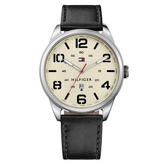 Tommy Hilfiger Men's Black Leather Strap Watch - Product number 6095518
