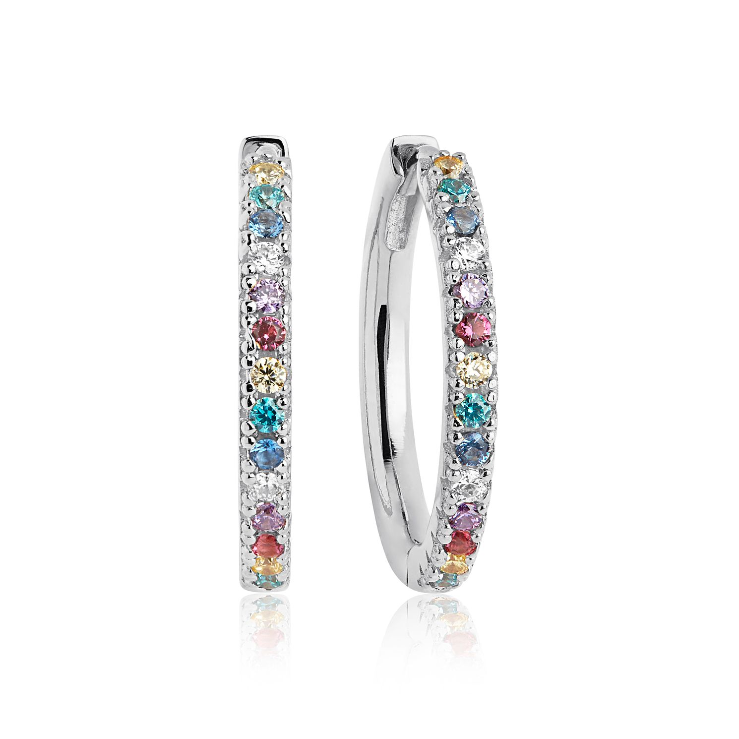Sif Jakobs Ellera Multicolour Zirconia Hoop Earrings - 20mm - Product number 6095674