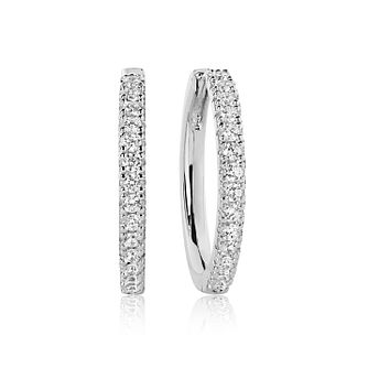 Sif Jakobs Ellera White Zirconia Hoop Earrings - 20mm - Product number 6095704